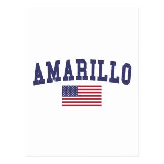 アマリロ米国の旗 ポストカード