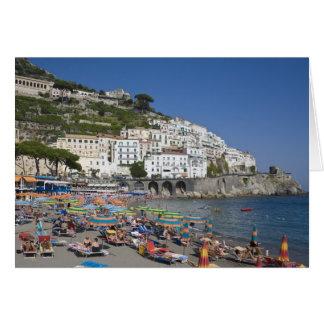 アマルフィのカンパニア州、イタリアのビーチ カード