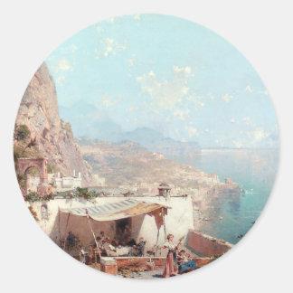 アマルフィのフランツリチャード著Salernoの湾 ラウンドシール
