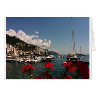 アマルフィの海岸の美しい写真、イタリア カード