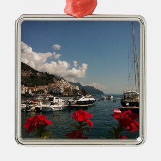 アマルフィの海岸の美しい写真、イタリア メタルオーナメント