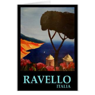 アマルフィの海岸のRavello Salernoイタリアの眺め カード