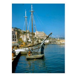 アマルフィの漁船との水辺地帯 ポストカード