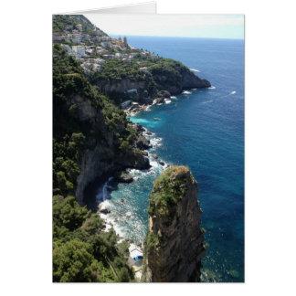 アマルフィの美しく、ロマンチックな海岸線、イタリア カード
