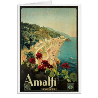 アマルフィイタリアイタリアのヴィンテージ カード