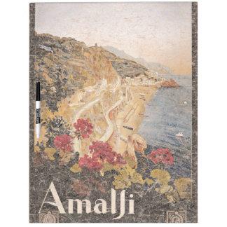 アマルフィイタリア旅行ポスターヨーロッパのホワイトボード ホワイトボード