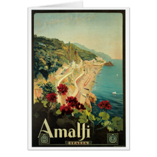 アマルフィ、イタリアのヴィンテージポスター カード