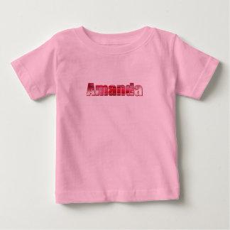アマンダのためのTシャツ ベビーTシャツ