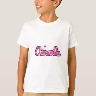アマンダの一流の名前入り Tシャツ
