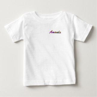 アマンダの赤ん坊の罰金のジャージーのTシャツ ベビーTシャツ