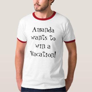 アマンダは休暇に勝ちたいと思います! Tシャツ