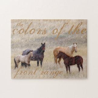 アマンダスミスワイオミングのカメラマンによる馬のパズル ジグソーパズル