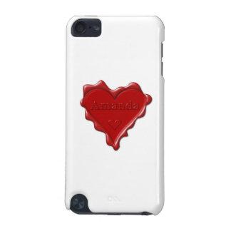 アマンダ。 一流のアマンダが付いている赤いハートのワックスのシール iPod TOUCH 5G ケース