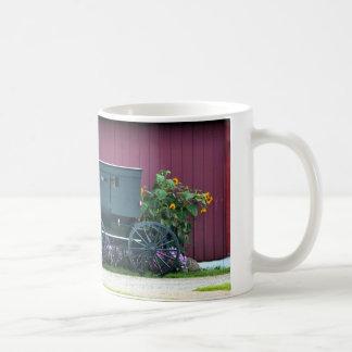 アマン派の乳母車納屋周囲の庭 コーヒーマグカップ