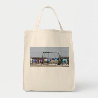 アマン派の冬の洗濯 トートバッグ