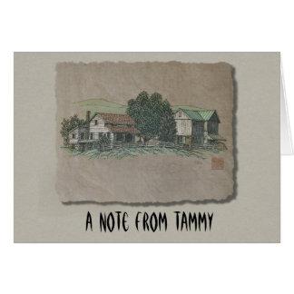 アマン派の家及び納屋 カード