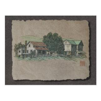 アマン派の家及び納屋 ポストカード