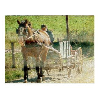 アマン派の荷馬車 ポストカード