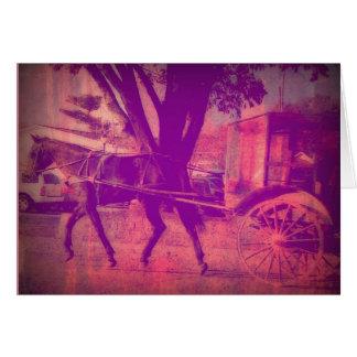 アマン派の馬および乳母車 カード