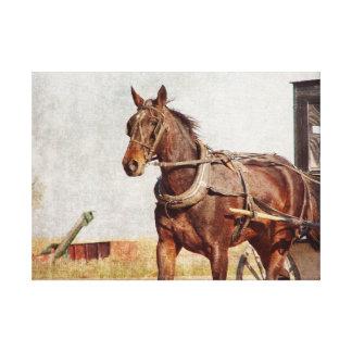 アマン派の馬および乳母車 キャンバスプリント