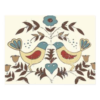 アマン派の鳥のコテージの上品Distlefink ポストカード