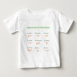 アミノ酸-どこからあなたの蛋白質を得ますか。 ベビーTシャツ