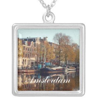 アムステルダムのネックレス シルバープレートネックレス