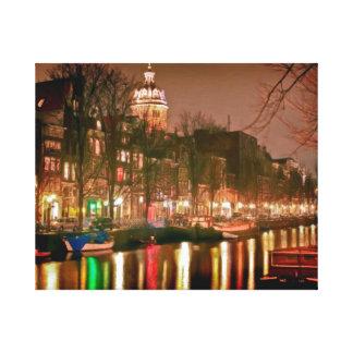 アムステルダムの反射 キャンバスプリント