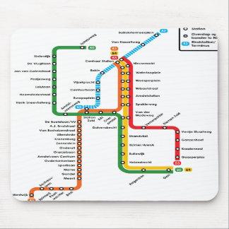 アムステルダムの地下鉄のマウスパッド マウスパッド