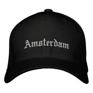 アムステルダムの帽子 刺繍入りキャップ