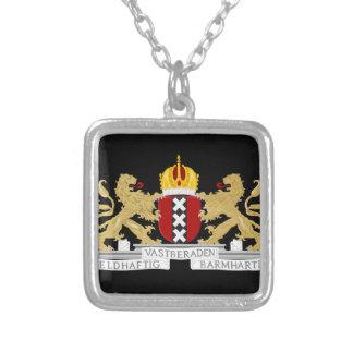 アムステルダムの紋章付き外衣 シルバープレートネックレス
