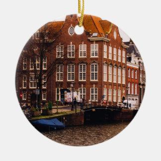 アムステルダムの運河および建築 セラミックオーナメント