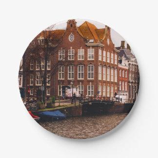 アムステルダムの運河および建築 ペーパープレート