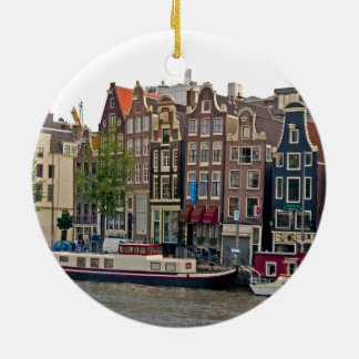 アムステルダムの運河の家 セラミックオーナメント