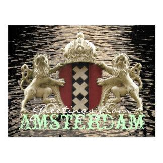 アムステルダムの郵便はがきからの挨拶 ポストカード