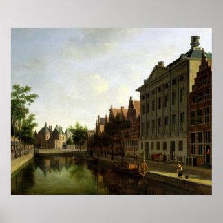 アムステルダムのKloveniersburgwalの眺め ポスター