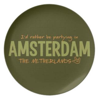 アムステルダムカスタムな色のプレート プレート