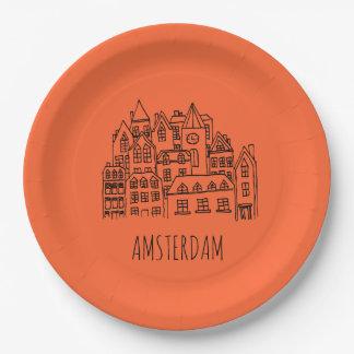 アムステルダムネザーランドオランダ都市記念品 ペーパープレート
