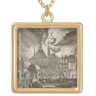 アムステルダム古い市庁舎、7月17日の火165日 ゴールドプレートネックレス
