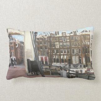 アムステルダム橋および運河の家のファインアート ランバークッション