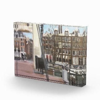 アムステルダム橋運河は芸術の文鎮を収納します 表彰盾