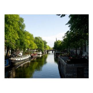 アムステルダム運河のハウスボート ポストカード