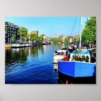アムステルダム運河 ポスター