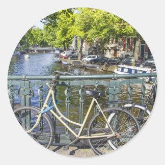 アムステルダム運河 丸形シール・ステッカー