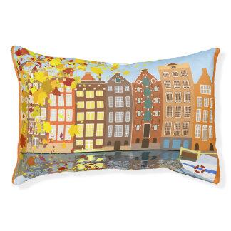アムステルダム都市秋カラフルな屋内犬のベッド