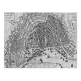 アムステルダム1662年の地図 ポストカード