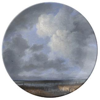 アムステルダム1665-1670年の眺め 磁器プレート