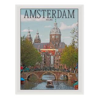 アムステルダム- Sint Nicolaaskerk ポストカード