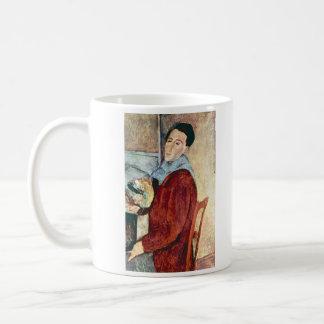 アメデオ・モディリアーニ著自画像 コーヒーマグカップ