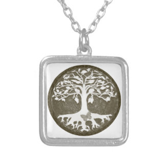 アメリアCarrie著新しい始め生命の樹 シルバープレートネックレス